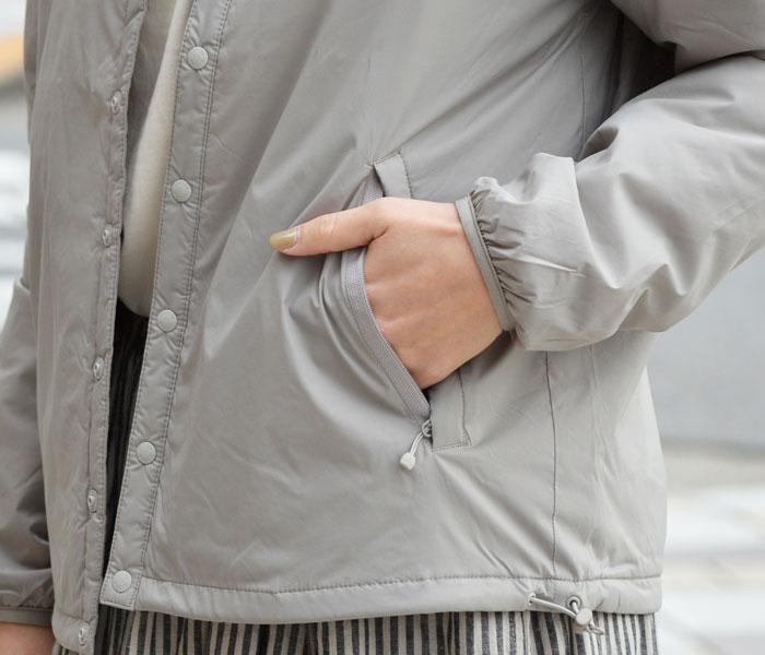 ダントン (DANTON)インサレーションジャケット プリマロフト メンズ レディース JD-8878SBT JD-8885SBT ジッパー付きのポケットは中のものを落とさず安心です。