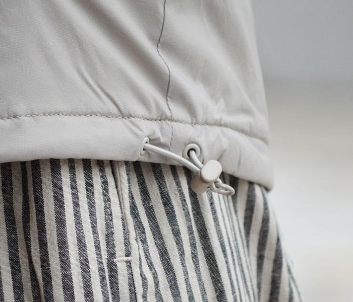 ダントン (DANTON)インサレーションジャケット プリマロフト メンズ レディース JD-8878SBT JD-8885SBT 寒さが気になる時は裾のドローコードを絞って風をシャットアウト!