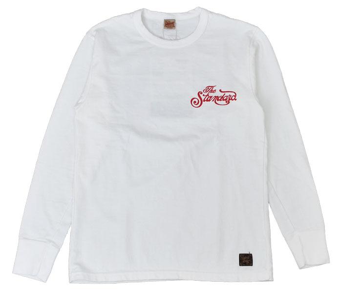 デラックスウエア (DELUXEWARE)STANDARD 長袖プリントTシャツ ロングスリーブT SLL-02 WHITE