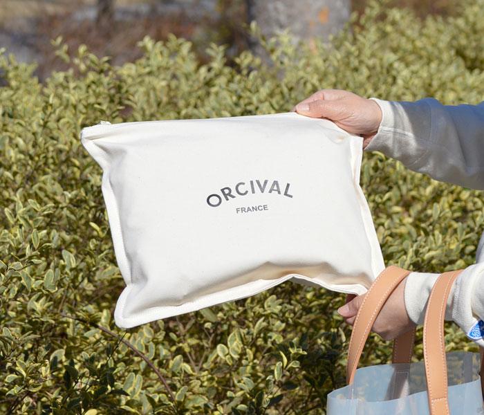 オーチバル/オーシバル (ORCIVAL)クリアトートバッグS M RC-7318CLV RC-7319CLV バッグとポーチを単品でお使いいただけます。