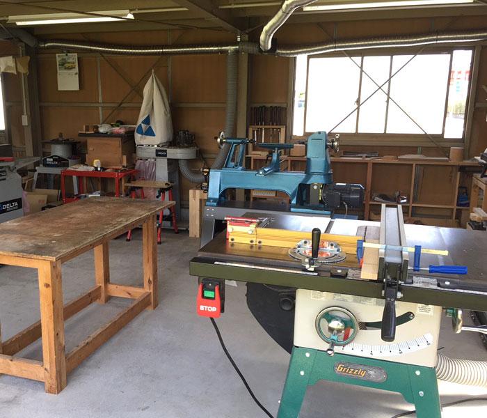 TOP JIMMY オリジナルウッドチャーム 安城市の木工挽物工房WOOD STOCKの作業場