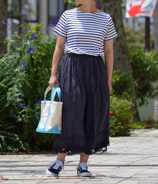 マーブルシュッド (marble SUD) Kujira Lace Skirt 刺繍 ギャザースカート 07AS069010  を使ったレディースコーディネート