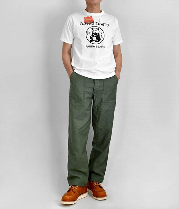オアスロウ (orSlow) US ARMY FATIGUE PANTS *Button Fly 01-5002 を使ったメンズコーディネート