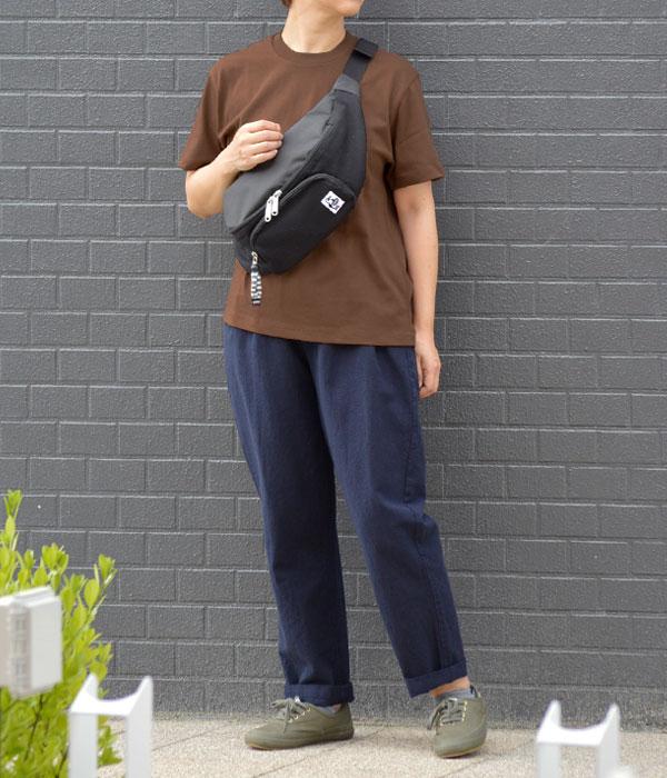 ダントン (DANTON) クルーネック コットンポケット半袖Tシャツ JD-9041を使ったレディースコーディネート