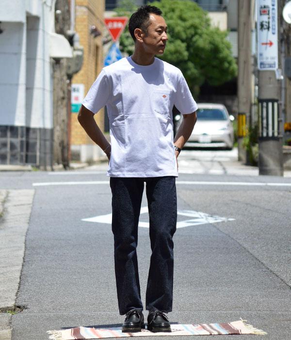 ダントン (DANTON) クルーネック コットンポケット半袖Tシャツ JD-9041を使ったメンズコーディネート