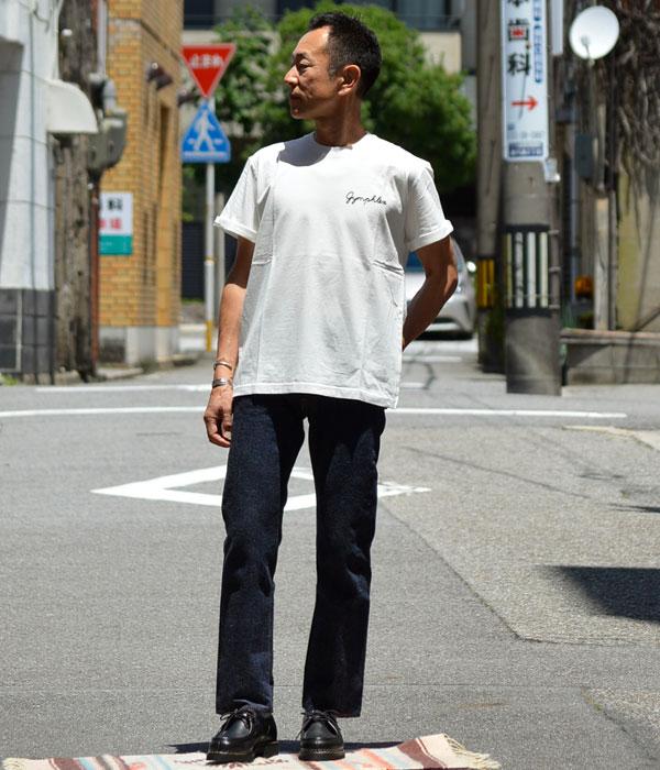ジムフレックス (GYMPHLEX)コットンジャージー 刺繍ロゴ Tシャツ 半袖Tシャツ J-1155CHを使ったメンズコーディネート