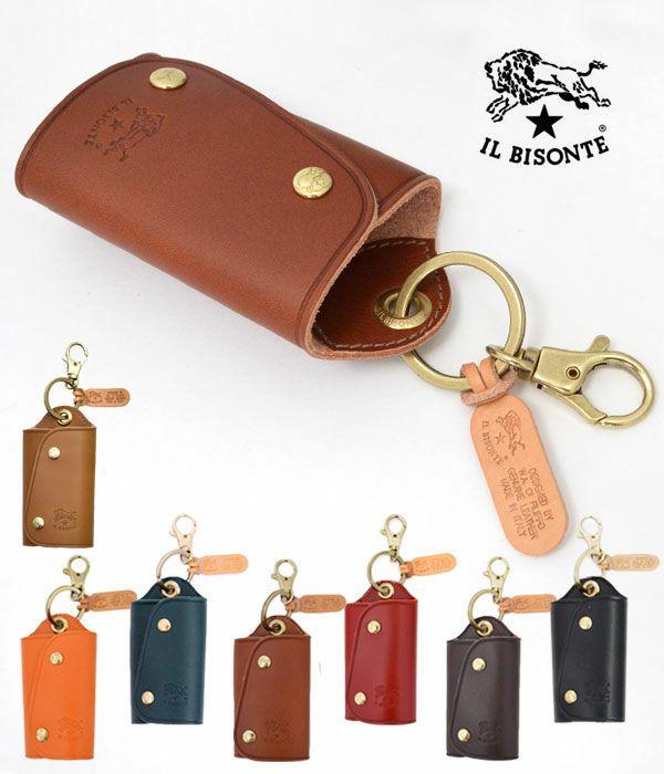 イルビゾンテ(IL BISONTE) レザーワイドキーケース5432404150