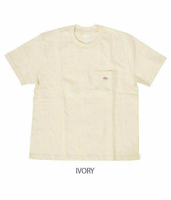 ダントン (DANTON) クルーネック コットンポケット半袖Tシャツ JD-9041