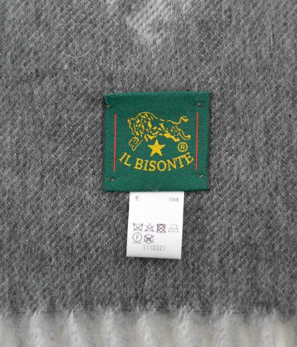 イルビゾンテ (IL BISONTE) バッファロー ロゴパターンマフラー 54182309381, 54192309381