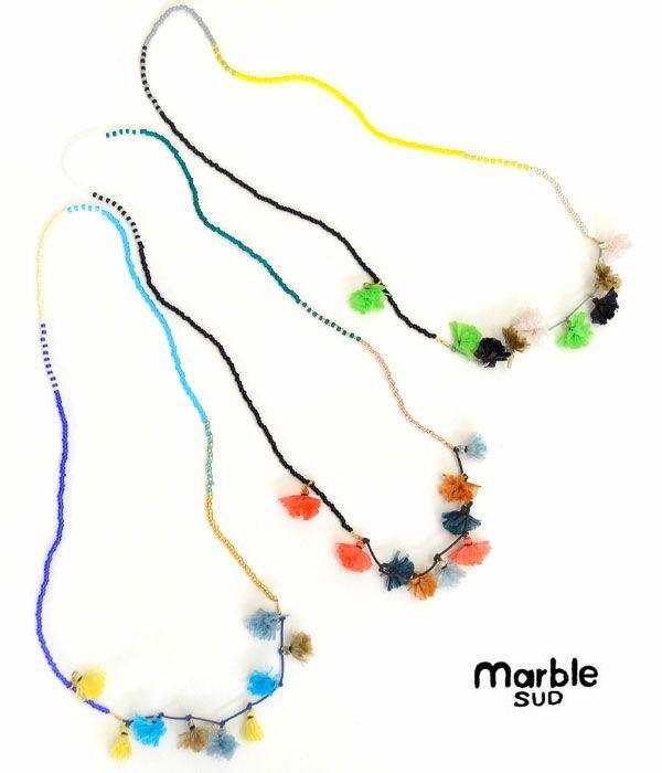 マーブルシュッド(marble SUD)ビスレ pompon ネックレス 189s999209