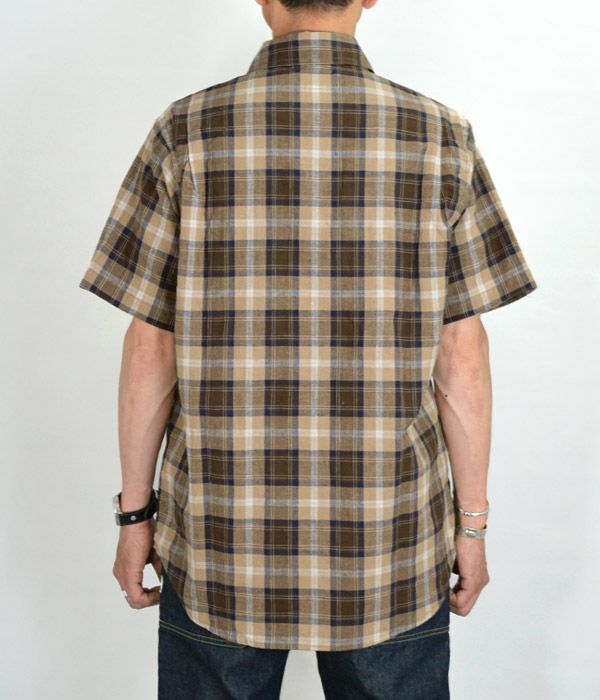 ササフラス(SASSAFRAS) Leaf Pruner Half 1/2 半袖チェックシャツ SF-191479