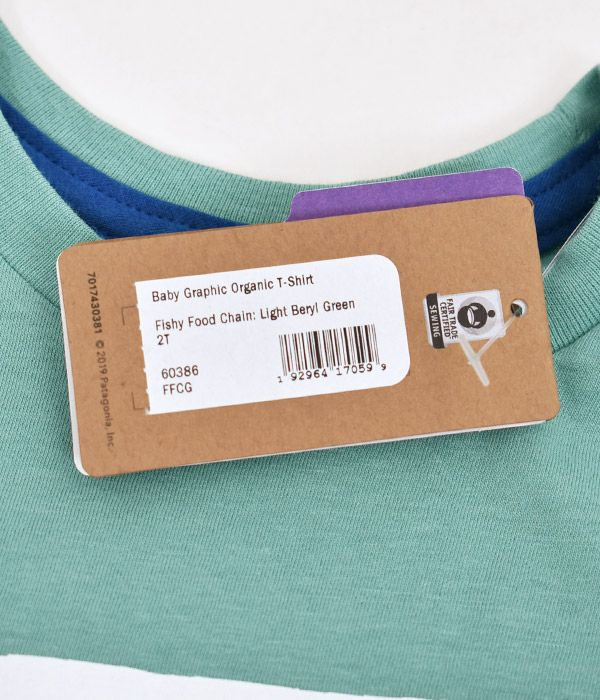 パタゴニア (PATAGONIA) ベビー グラフィック オーガニックTシャツ 半袖プリントTシャツ 60386