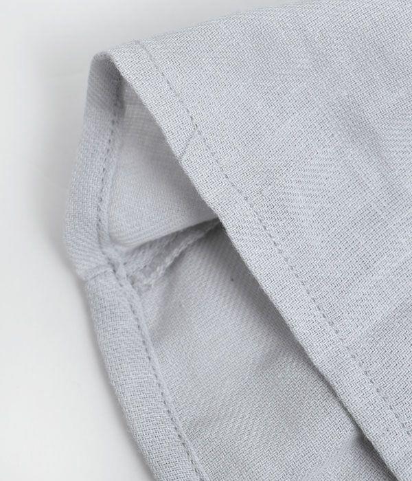 リラシク (LILASIC) エコリネンミックスブラウス 7分袖シャツ S60186