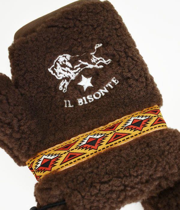 イルビゾンテ (IL BISONTE) FREECE HALF GLOVES 指なし手袋 ミトン 54202-3-09482