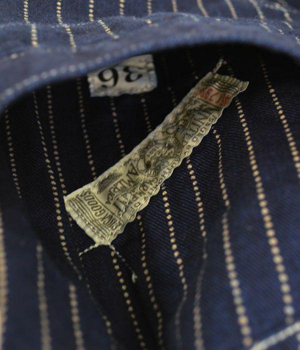 フリーホイーラーズ (FREEWHEELERS) CONDUCTOR VEST コットンベスト インディゴウォバッシュストライプ 2121001 1921017