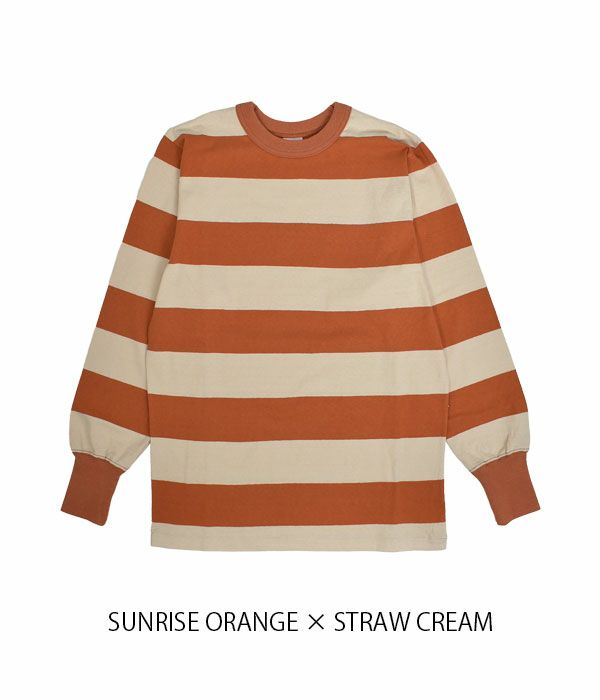 フリーホイーラーズ (FREEWHEELERS) HORIZONTAL STRIPED SET-IN LONG SLEEVE T-SHIRT 長袖 コットン ボーダーTシャツ 2125019