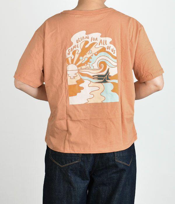 パタゴニア (PATAGONIA) W's Same Ocean Organic Easy-Cut Tee ウィメンズ セイム オーシャン オーガニック イージーカット ティー レディース半袖プリントTシャツ 37430