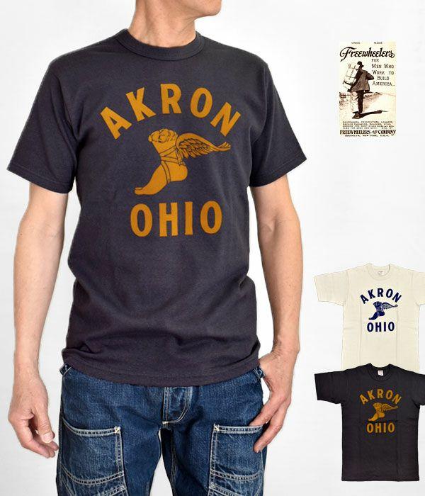 フリーホイーラーズ (FREEWHEELERS)HOME of U.S. SERIES AKRON 半袖プリントTシャツ 2125008