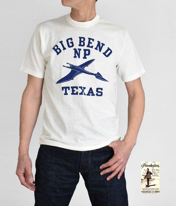 フリーホイーラーズ (FREEWHEELERS)HOME of U.S. SERIES BIG BEND 半袖プリントTシャツ 2125004