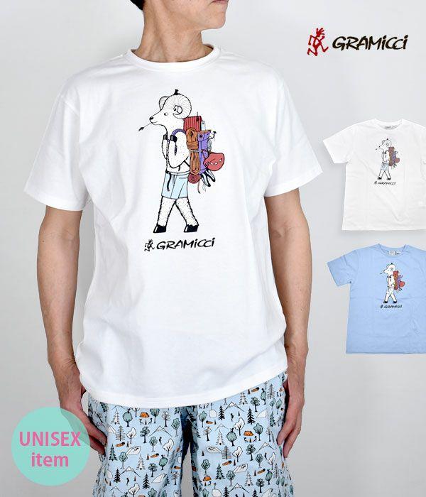 グラミチ(GRAMICCI)JONAS CLAESSON BACK PACK TEE 半袖プリントTシャツ アウトドア GUT-JC-21S076