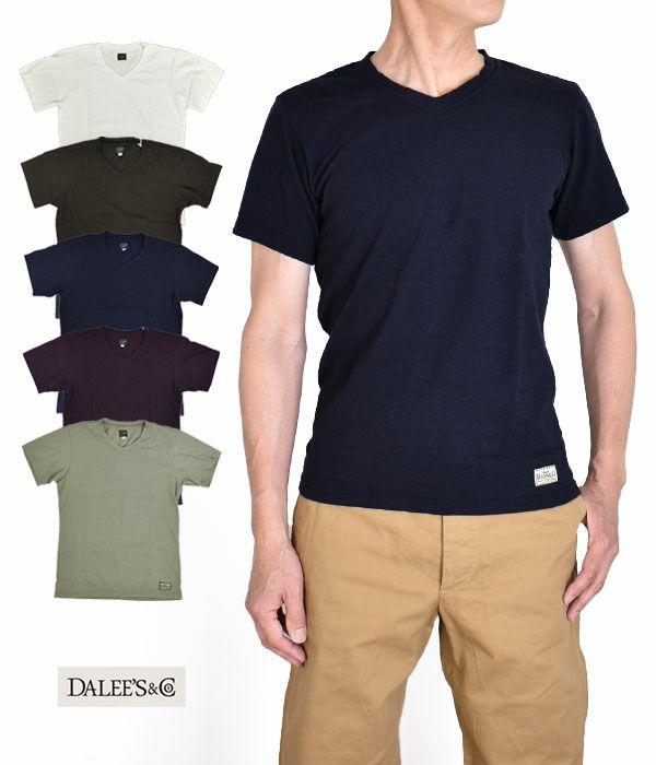 ダリーズ(DALEE'S&Co)VL21T...SHALLOW NECK T-SHIRT 半袖Vネック無地Tシャツ