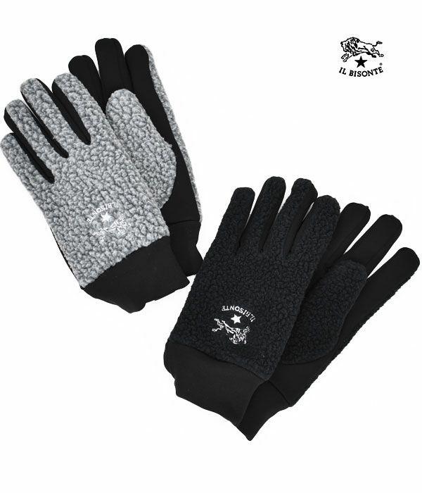 イルビゾンテ(IL BISONTE)COMBI GLOVES 手袋 ボアフリースグローブ 54212-3-09282 54212309282